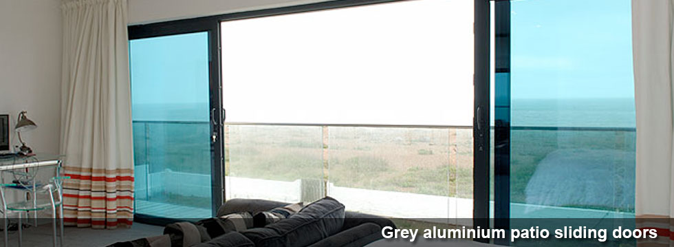 Grey Aluminium Patio Doors