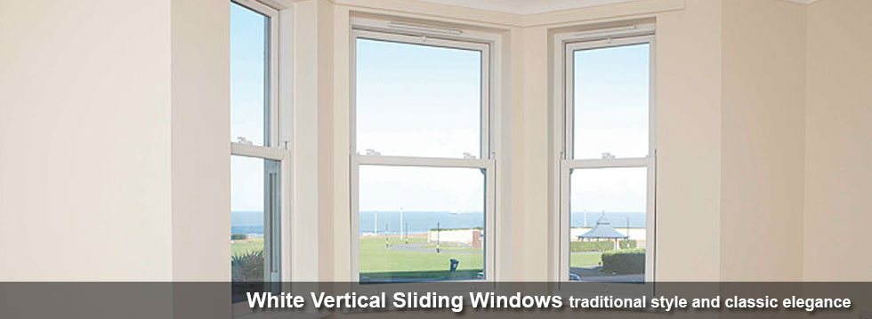Brilliant White Vertical Sliding Windows